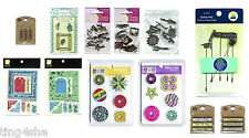 Various Metal Embellishments & Charms for Scrapbooking etc CHOOSE PRODUCT