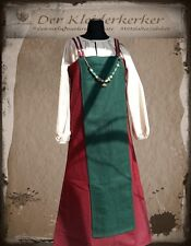 Medieval Ages Robe Felt Wool Larp Roll Playing Viking Overdress Strap Dress 1