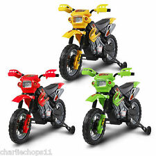 kids 6v electric mini scrambler dirt bike motorbike ride on motocross