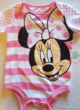INFANT GIRLS DISNEY MINNIE MOUSE ONE PIECE OUTFIT  SIZES 3/6 & 6/9 MONTHS  NWT