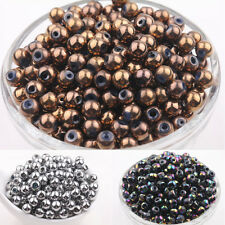 Hotsale 50Pcs Round Chic Crystal Glass Loose Spacers Beads 6mm Craft Making
