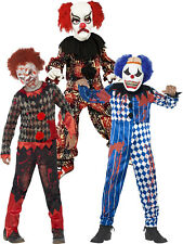 Age 4-12 Boys Zombie Scary Clown Horror Halloween Fancy Dress Costume Party