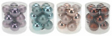 Set of 12 Real Glass Christmas Tree Decorations 60mm Glass Christmas Baubles