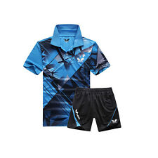 2015 Butterfly men's shirt table tennis clothing  Badminton Set T-shirt+shorts