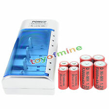 4x C size 10000mAh + 4x D size 13000mAh 1.2V Ni-MH rechargeable battery+ Charger
