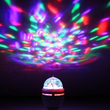 E27/USB RGB Auto Rotating Stage Light DJ Disco Crystal 3W LED Ball Bulb Lamp DL