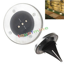 6X Solar Powered LED Buried In Ground Light Garden Outdoor Pathway Path Lamp