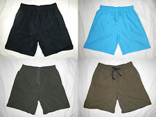Men Sport Shorts Basketball Board Swim Trunks Pants Solid Black Blue Brown Green