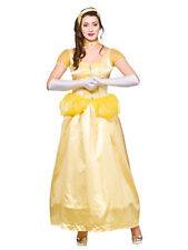 Adult Ladies Princess Belle Beauty And The Beast Fairytale Fancy Dress Costume
