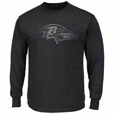 Baltimore Ravens MENS Long Sleeve Shirt Up and Over Black by Majestic Athletic