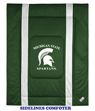 MICHIGAN STATE SPARTANS SIDELINES COMFORTER, SHEET SET, TOSS PILLOW