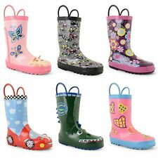 Kids Boys Infants Childrens Girls Wellington Boots Junior Wellies Rain Shoes