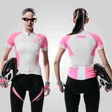 Women Cycling Jacket Outdoor Sport Bike Bicycle Jersey Short Sleeve Pink S-XL AU