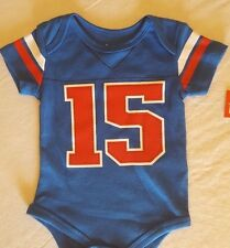 "INFANT BOYS ""#15 JERSEY STYLE"" ONE PIECE CREEPER  SIZE 0/3 MONTHS (NB)  NWT"