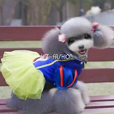 Pet Puppy Dog Dress Snow White Gift Fancy Dress Costume Outfit Princess Apparel