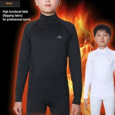 Kids Thermal Underwear Base Layer Compression Shirts Long Sleeve Napping LSK