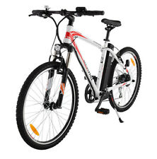 ELECTRIC BIKE BICYCLE RED WHITE EASY PEDAL RECHARGEABLE LONG LASTING BATTERY!!