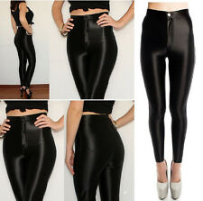 WOMENS LADIES FASHION AMERICAN APPAREL STYLE SHINY DISCO PANTS UK 6 8 10 12 14