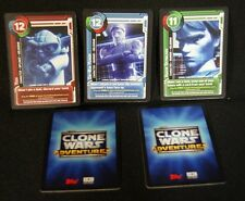 SDCC Comic Con 2011 Exclusive STAR WARS CLONE WARS ADVENTURES Game Cards