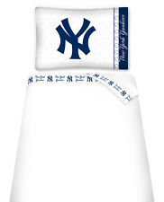 NEW YORK YANKEES SHEET SET, TOSS PILLOW & PILLOW SHAM