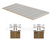 Complete Timber Supported Polycarbonate Roof Kit 4 Metre Long 3 Metre Wide.