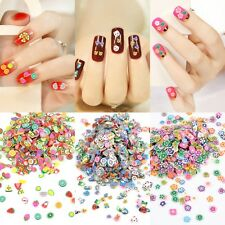 1000PCS Cute 3D Fimo Floral Flower Mix Nail Art Sticker Tips Decal Decor