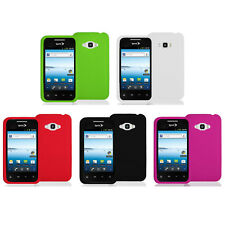 Silicone Rubber Color Gel Skin Case Cover for LG Optimus Elite LS696 Phone