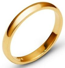 Solid 10k Yellow Gold 4mm Comfort Fit Men Women Wedding Band Ring Size 5-13