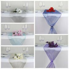 "24 pcs 14""x 108"" Sheer Organza Table Top Runners Wedding Party Decorations SALE"