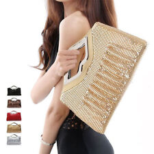 Sequins Women Lady Clutch Cocktail Evening Party Tote Handbag Shoulder Bag Purse