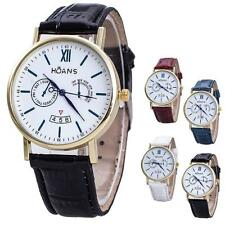 Men Watches Rome Article Leather Band Analog Quartz Vogue Wrist Watches New