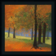 Autumn Trees Traditional Fall Landscape Framed Art Print Wall Decor Picture