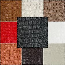 "Alligator Prints Fabric Vinyl Faux Leather Animal Skin Upholstery 54"" Width"