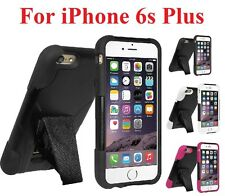 AMZER Dual Layer Hybrid Tough Armor Protection Kickstand Case For iPhone 6s Plus