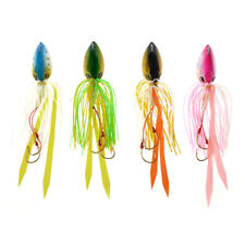 Squid Head Fishing Lure with Rubber Skirt Saltwater Fishing Jigs
