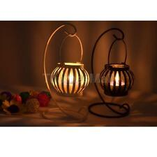 Black/White Pumpkin Lantern Candle Holder Tealight Candlestick Stand Decor DIY