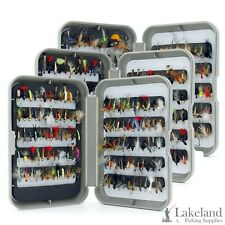 G Fly Box + Mixed Trout Fishing Flies Wet Dry Nymph Buzzers 10 25 50 100