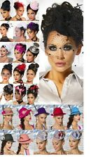 SEXY LADIES BURLESQUE GOTHIC MINI HAT FASCINATOR HEADPIECE HAIR ACCESSORIES #