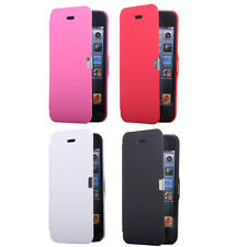 Protective PU Leather Folio Magnetic Flip Skin Case Cover for iPhone 5 5G 5th