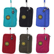 """5.7"""" Canvas Universal Mobile Bag Pouch Carry Case Sport Carry Multi Use Wallet"""