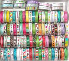 American Crafts Grosgrain/Satin Ribbon & Ric Rac Spool 1cm wide x 1.2m Various