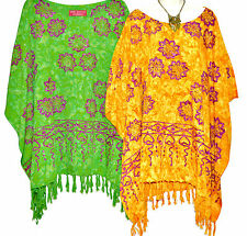 New JASMINE Poncho Top Blouse Tunic One Size Plus Bold Hippie Fancy Summer Beach
