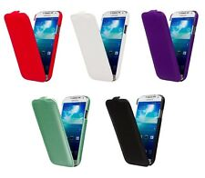 CARBON FIBRE STYLE LEATHER FLIP CASE COVER FOR SAMSUNG GALAXY S4 GT-I9500
