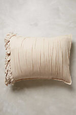 NWT Anthropologie Georgina Pair (Two) of Standard Shams 100% Cotton, Sand