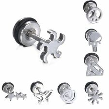 Stainless Steel Silver Nose Tongue Lip Ring Stud Earring Body Piercing Jewelry