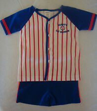 """INFANT BOYS 2PC """"DADDY'S LIL' SLUGGER"""" BASEBALL OUTFIT SIZES 3-24 MONTHS  NWT"""
