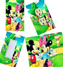 Mickey Mouse and Minnie Mouse light switch wall plate covers, kids room decor