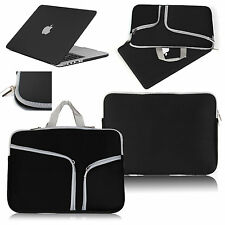 For Macbook Pro 13 Air 11 Retina 15 Rubberized Case Cover+Sleeve Carry Bag Black