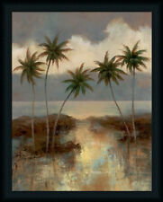 After the Rain II T.C. Chiu 28x22 Tropical Palm Tree Art Print Framed Picture
