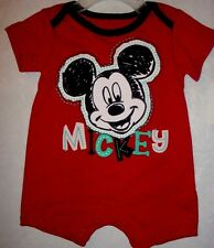 INFANT/BABY BOYS DISNEY MICKEY MOUSE 1PC CREEPER/BODYSUIT  SIZE 0/3 MONTHS NWT